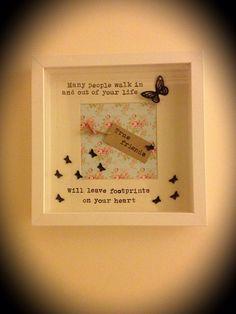 Handmade friendship friends gift frame by FlorrieFlowers on Etsy