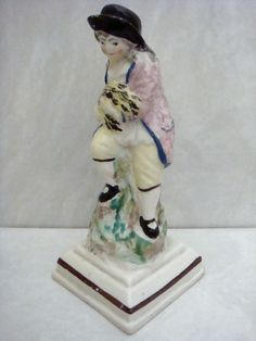 NEALE & CO VERY RARE PORCELAIN FIGURE OF THE SEASONS AUTUMN C1785 CONDITION IS EXCELLENT WITH JUST A CLEAN REPAIR AROUND HIS NECK. THE FIGURE MEASURES 6.3'' INCHES HIGH. £94
