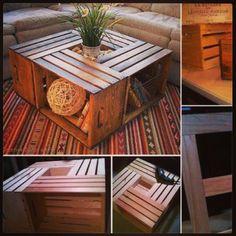 Table caisses de vin en bois