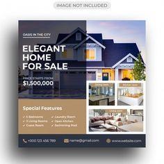 Social Media Poster, Social Media Banner, Social Media Design, Real Estate Banner, Real Estate Flyers, Real Estate Flyer Template, Business Flyer Templates, Real Estate Advertising, Real Estate Marketing