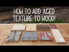 How to Make Wood Look Old & Weathered (Texture Trick!) - YouTube