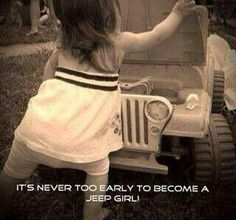 Jeep Girls Rock! This is our tiny doll already with her pink Barbie Jeep.