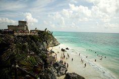 Tulum Beach in Mexico. (Photo by Nicole Franzen)