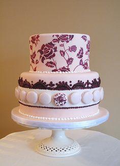 French Macaron Cake - Anna Elizabeth Cakes http://www.annaelizabethcakes.com/index.php