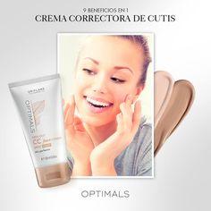 Optimals CC Cream es la mezcla perfecta entre un producto de #maquillaje y uno de cuidado para la #piel, ya que otorga cobertura pero también contiene FPS 20, previene las #arrugas y las #manchas. ¡No te pierdas 9 beneficios en 1 a un precio increíble!