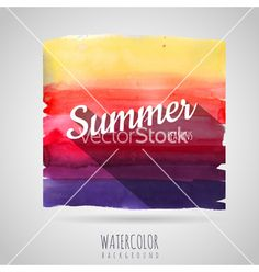 Watercolor abstract background seasons summer vector by annbozhko on VectorStock®