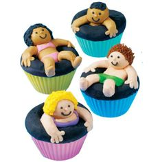 Pool Party Kids / Inner Tube Cupcakes