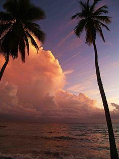 Sunset, Pink Clouds    La Romana