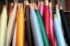 Set of 12 Silk Thread Bobbins  Variety Pack  by worthygoodstextile, $72.00