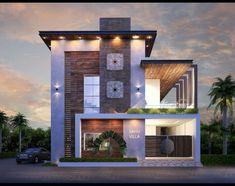House Wall Design, Village House Design, Bungalow House Design, House Front Design, Design Exterior, Modern Exterior, Villa Design, Minimalist House Design, Best Modern House Design