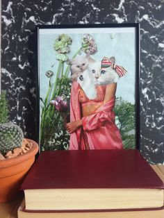 Paper Collage Art, Cat Lady, Crow, Collages, Art Decor, Magazine, Frame, Check, Flowers