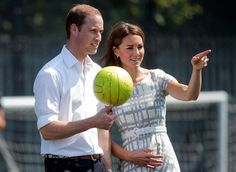 "Kate and William..love it that they are found out ""playing"" together! They are young and it is just fun to watch!!"