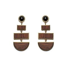 Lizzie Fortunato Totem Earrings ($290) ❤ liked on Polyvore featuring jewelry, earrings, lizzie fortunato earrings, lizzie fortunato, earrings jewelry, statement earrings and lizzie fortunato jewelry