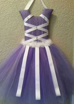 Purple tutu hair bow holder by KiksNBoo on Etsy, $22.00