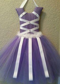 Purple tutu hair bow holder by KiksNBoo on Etsy, $22.00