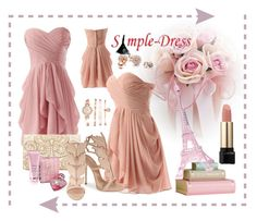 """""""Simple-dress#6"""" by merima-musanovic ❤ liked on Polyvore featuring Merci Gustave!, Forever New, Giuseppe Zanotti, GUESS, Anne Klein, Lancôme, Lipsy, By Terry, women's clothing and women's fashion"""