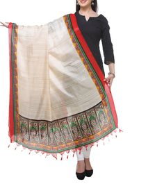 #Red & #Beige Printed #Bhagalpuri #Silk #Dupatta  at #Indianroots #Diwali #Sale Was $10 | Is $7 Diwali Sale, Silk Dupatta, My Heritage, Anarkali Suits, Desi, Menswear, Saree, Beige, Indian