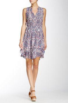 Rebecca Taylor Sleeveless Paisley Silk Dress