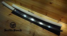 Aliexpress.com : Handgemachte Shinogi Zukuri Futasuji hallo double groove Shirasaya Japanischen Schwert von verlässlichen schwert fern-Lieferanten auf huaweiforge kaufen