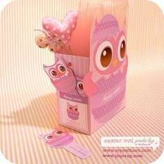 FREE Easter Owl Goodie Bag and Bookmarks Printable  @Kimberly Sanchez Lomeli I tought you would like this one :)