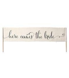 Here Comes The Bride Banner Burlap Scrollnull