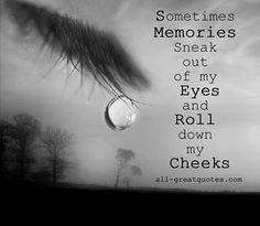 tear escapes...