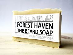 Beard Bar, Beard Soap, Forest Haven, Beard Wash, Kaolin Beard Soap, Beard Soap Bar, Beard Shampoo, Beard Conditioner, Soap Soap For Him  This Soap bar is a Beard Shampoo and a Beard Conditioner. It creates a rich, moisturizing lather that leaves your beard feeling clean, soft and manageable! Lightly scented with pure organic essential oils of Peppermint, Pine, Cedar Wood, Sandalwood, Orange and Tea Tree. We have also added Kaolin Clay for its softening and cleansing properties. The perfect…