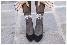fancy socks with their hands