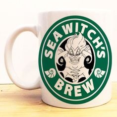 Starbucks Disney villain mug. I Love Coffee, My Coffee, Coffee Cups, Drink Coffee, Disney Mugs, Disney Kitchen, Sea Witch, Witches Brew, Cute Mugs