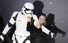 Carrie Fisher poses for cameras as she arrives at the European Premiere of Star Wars, The Force Awakens in Leicester Square, London, December 16, 2015.     REUTERS/Paul Hackett/File Photo via @AOL_Lifestyle Read more: http://www.aol.com/article/entertainment/2016/12/27/actress-carrie-fisher-dead-at-60/21642781/?a_dgi=aolshare_pinterest#fullscreen