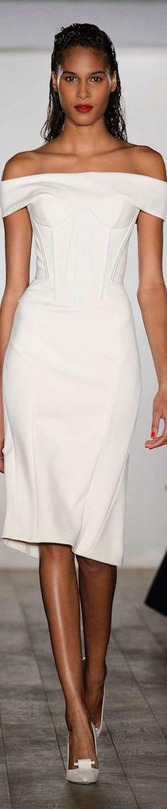 white dress @roressclothes closet ideas women fashion outfit clothing style Zac Posen - Spring 2015 | The House of Beccaria#: