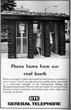 Phone Booths made out of Coal, Cadiz Ohio