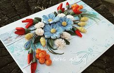 #quillingflowers #quillinglover #quilling#paperflowers #paperart #handmadecards #quillingcards