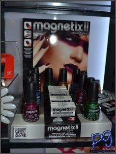 """China Glaze has also decided to bring out another round magnetic polish called Magnetix II launching in September 2012.  Along with the new colors is a new magnet that can great a bullseye, 3 parallel lines or a """"Bingo grid"""" as I'm calling it."""