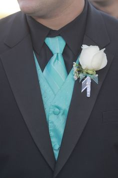 LOVE These colors... we may have a winner!  Charcoal gray and Tiffany blue for groomsmen although would like to add some coral in there