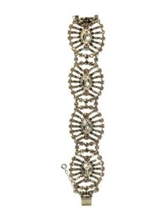 Gleaming Central Oval and Surrounding Crystal Baguette Bracelet in Crystal Clear by Sorrelli