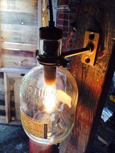 Upcycled Glenrothes Bottle Lamp by ThompsonsTaxonomy on Etsy