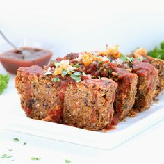 Mexican Vegan Meatloaf! Chili, cumin, beans, corn--all of the flavors an enchilada would offer are reunited in this gluten-free and vegan meatloaf!