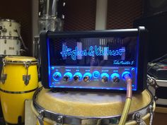 Hughes & Kettner Tubemeister 5 || This sits in Vienna, in Jürgen's 'studio'. Used for live gigs too. Brilliant, because it very nearly fits into a coat pocket and through the redbox you can go directly into the PA. 1x12BH7, 1x12AX7