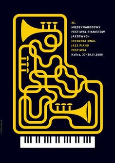 International Jazz Piano Festival in Kalisz poster 2009 by Jerzy Skakun