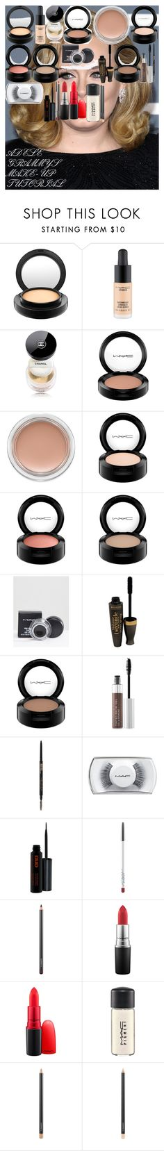 ADELE GRAMMYS MAKE-UP TUTORIAL by oroartyellie on Polyvore featuring beauty, Chanel, MAC Cosmetics, Anastasia Beverly Hills and Bourjois