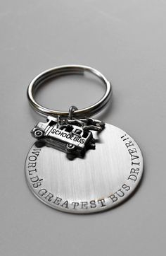 Bus Driver key chain  Bus Driver gift  School by LauriginalDesigns, $22.00