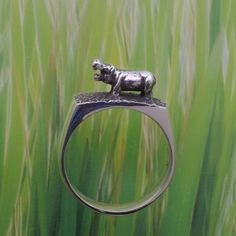 hippo ring = how cute!