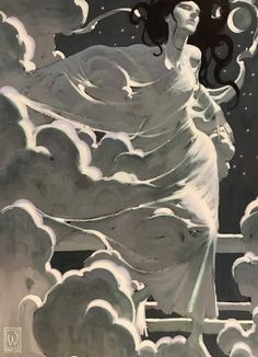 Moon goddess ii - john watkiss in 2019 art insp иллюстрации, Art And Illustration, Illustrations, Goddess Art, Moon Goddess, Fantasy Kunst, Fantasy Art, Art Inspo, Traditional Paintings, Traditional Art
