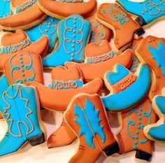 Cowboy Hat & Boots Decorated Sugar Cookies - 12 Pieces by Sugar Love & Happiness on Gourmly