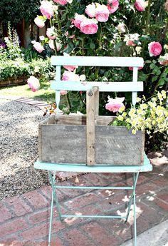 Antique French Wooden Garden Trug Basket