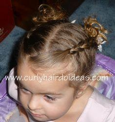 Curly Hairdo Ideas: gymnastics hairstyle