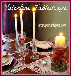 Valentine Tablescape inspiration by Grandparentsplus.