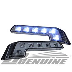 BENZ STYLE 6 LED DAYTIME RUNNING HEADLIGHTS BUMPER FOG LIGHTS CLEAR - CHEVY | eBay Motors, Parts & Accessories, Car & Truck Parts | eBay!