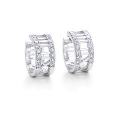Tiffany And Co Atlas Hoop Earrings White Gold Jewelry
